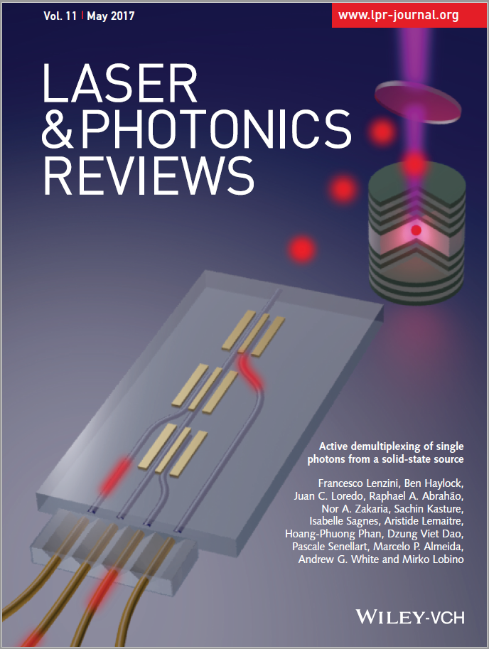 Inside cover of Laser and Photonics Reviews May 2017